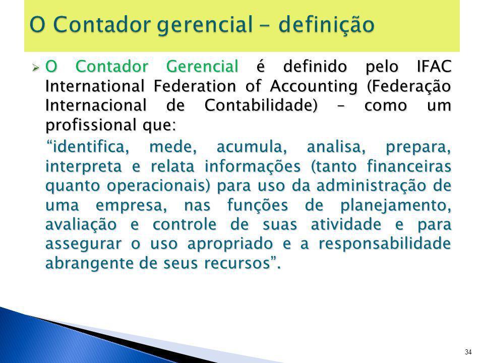 O Contador gerencial - definição