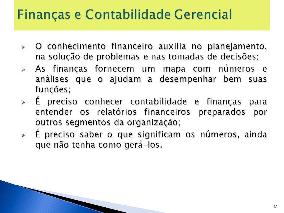 Finanças e Contabilidade Gerencial