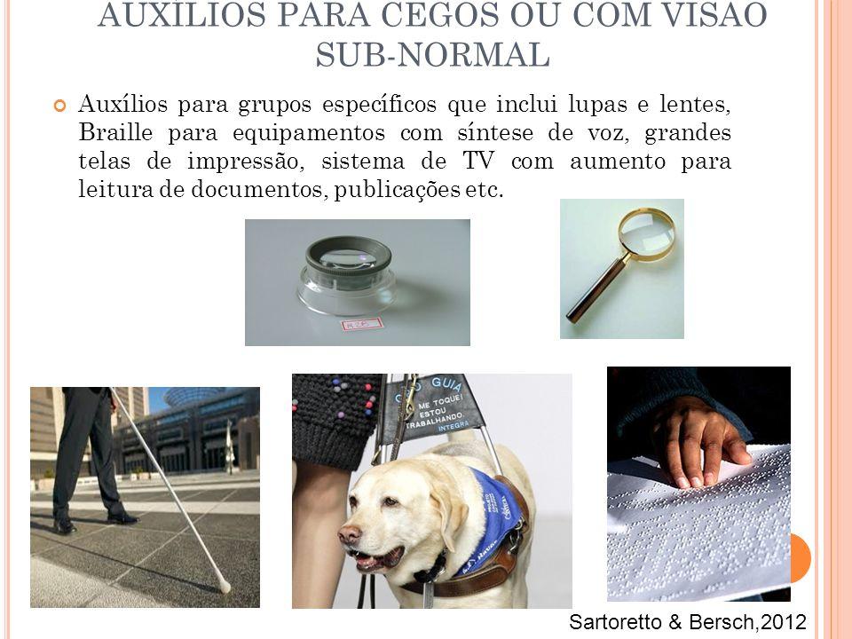 AUXÍLIOS PARA CEGOS OU COM VISÃO SUB-NORMAL