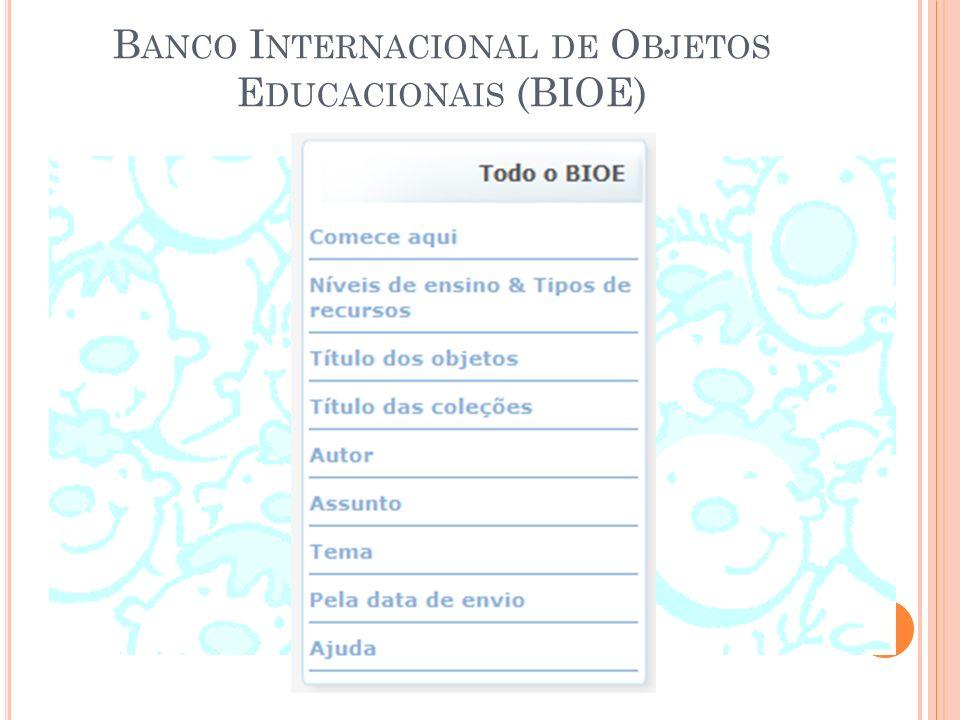 Banco Internacional de Objetos Educacionais (BIOE)