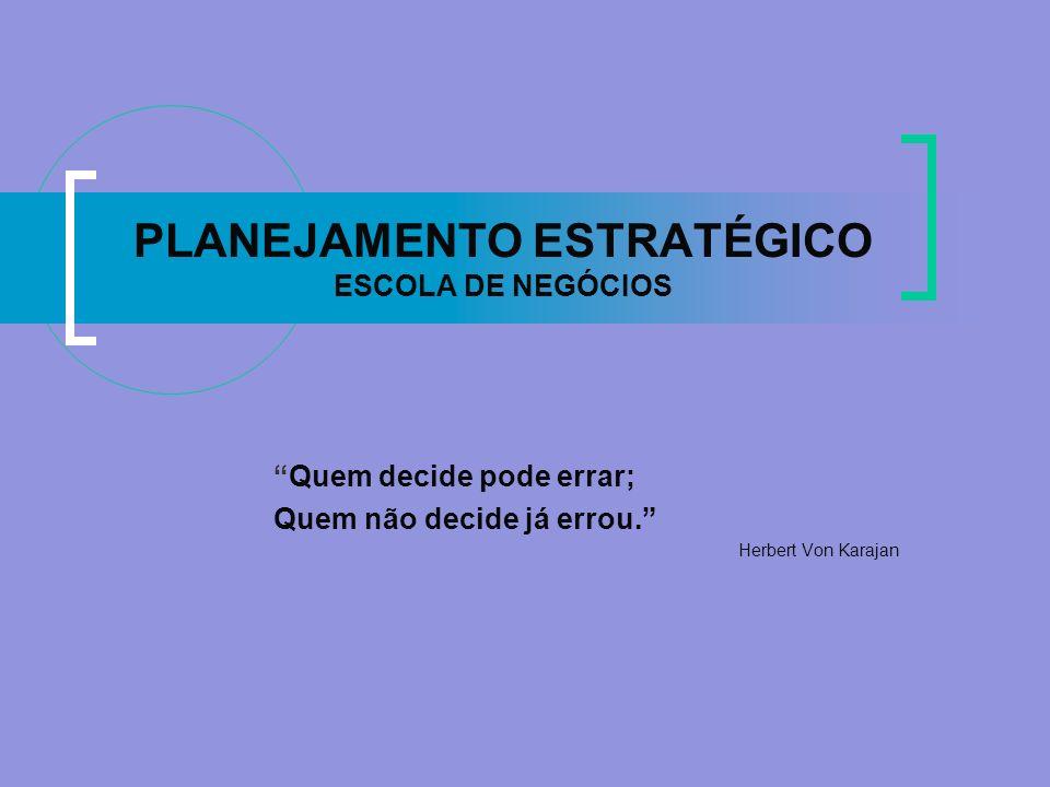 PLANEJAMENTO ESTRATÉGICO ESCOLA DE NEGÓCIOS