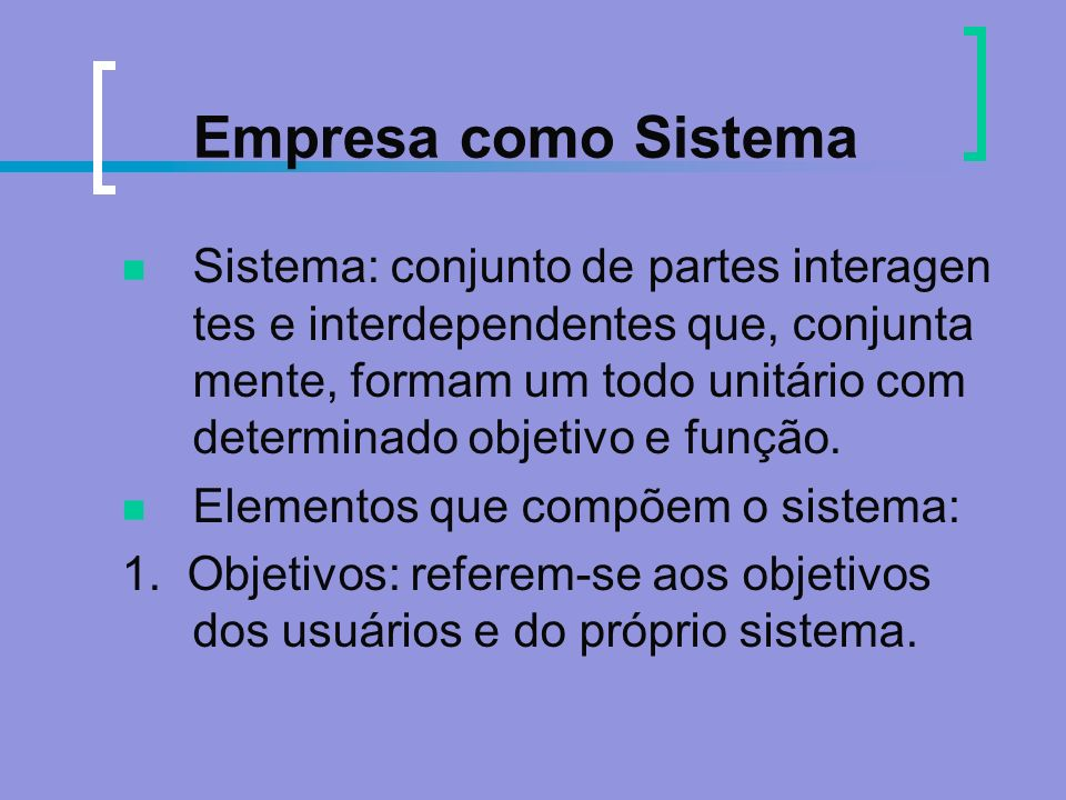 Empresa como Sistema