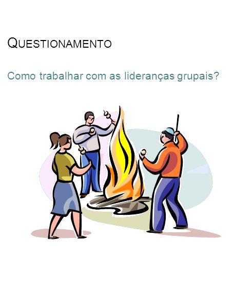 Questionamento Como trabalhar com as lideranças grupais
