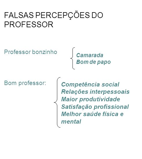 FALSAS PERCEPÇÕES DO PROFESSOR