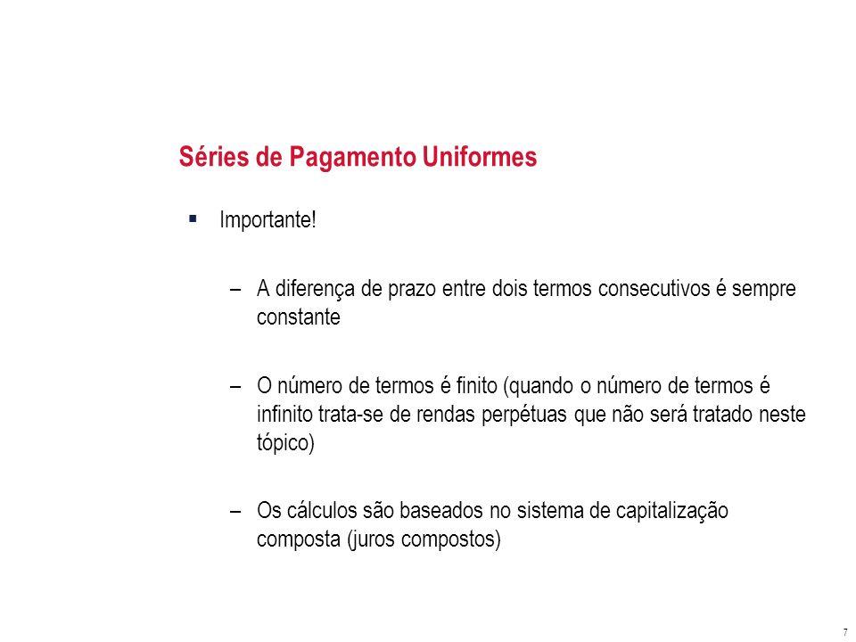 Séries de Pagamento Uniformes