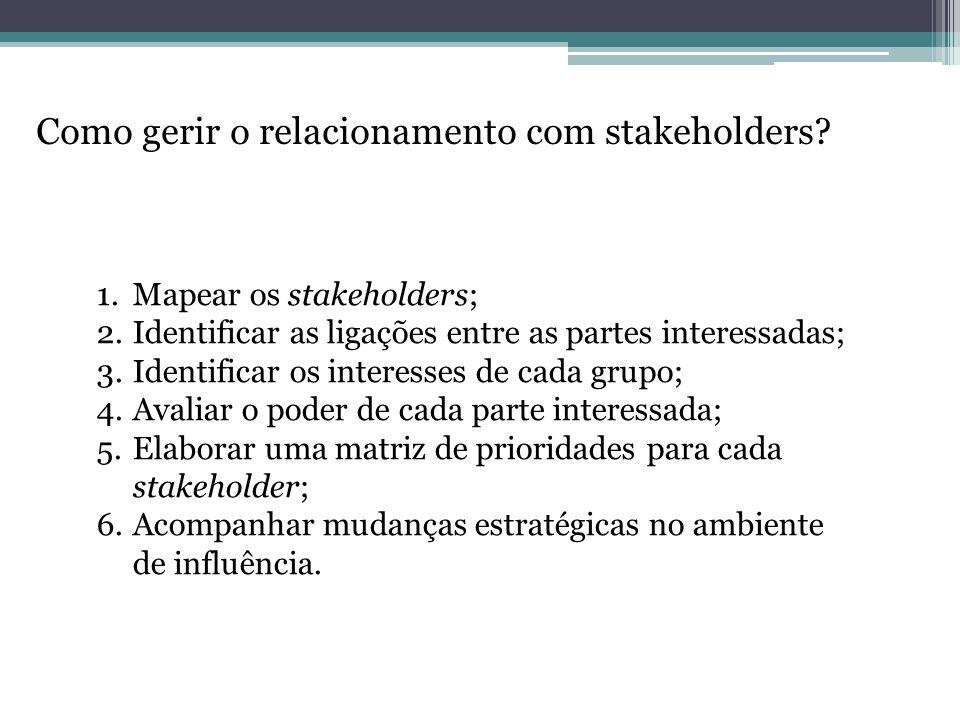 Como gerir o relacionamento com stakeholders