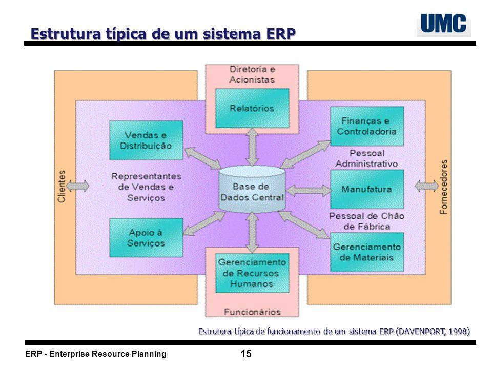 Estrutura típica de um sistema ERP