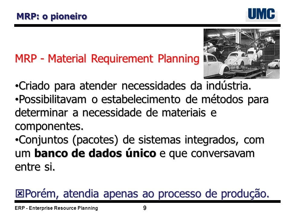 MRP - Material Requirement Planning