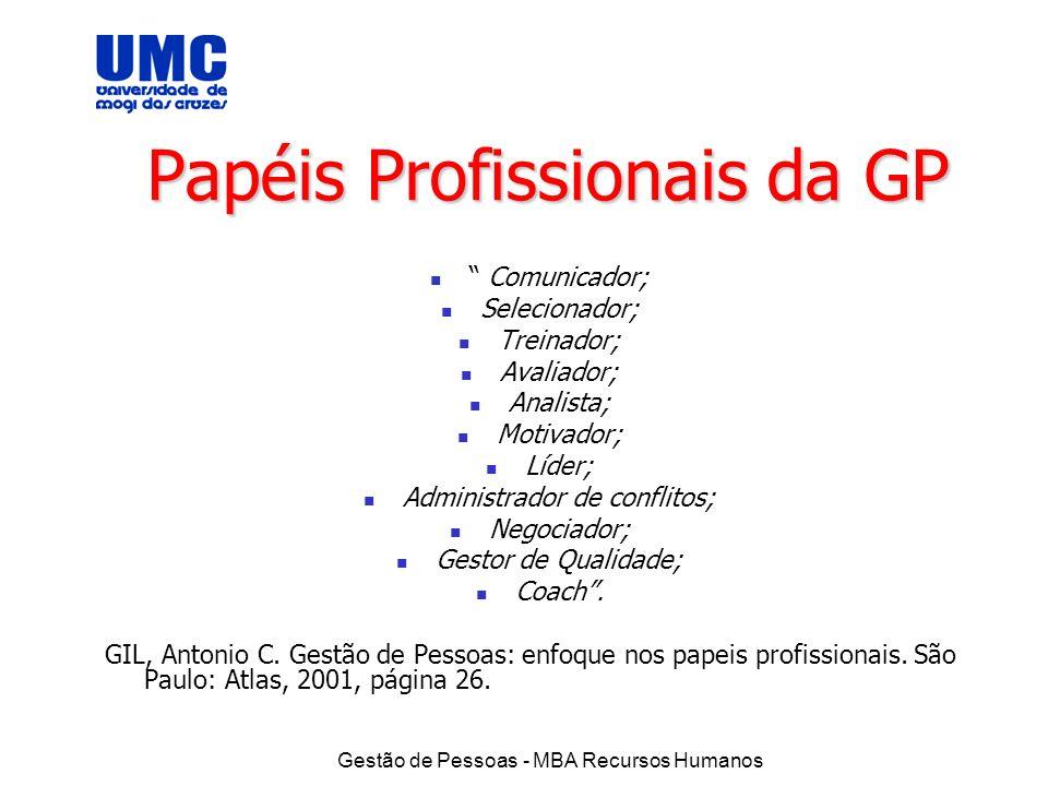 Papéis Profissionais da GP