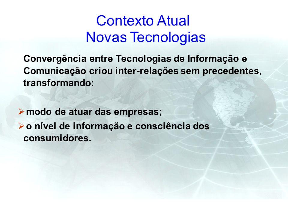Contexto Atual Novas Tecnologias