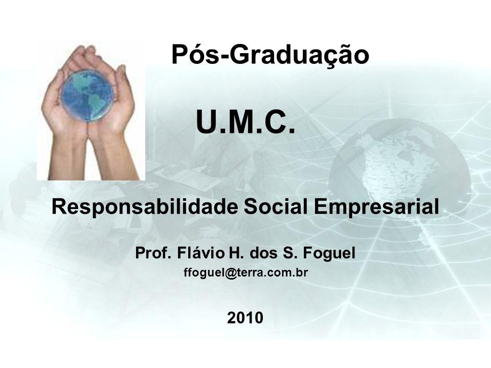 Responsabilidade Social Empresarial Prof. Flávio H. dos S. Foguel