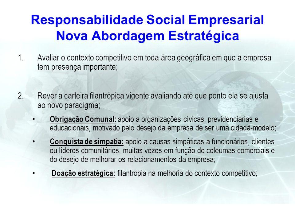 Responsabilidade Social Empresarial Nova Abordagem Estratégica