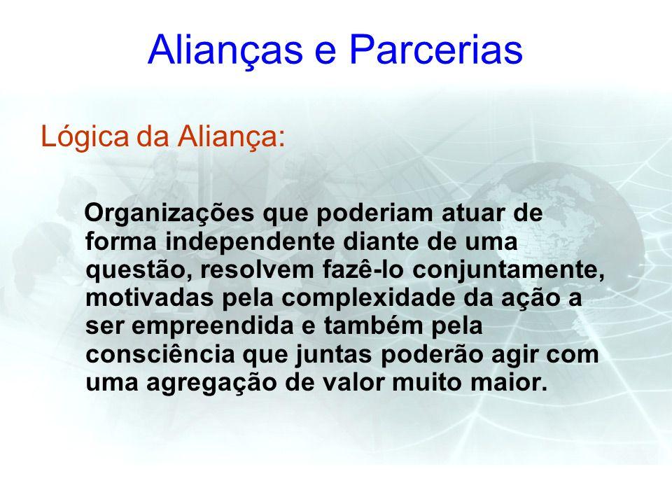 Alianças e Parcerias Lógica da Aliança:
