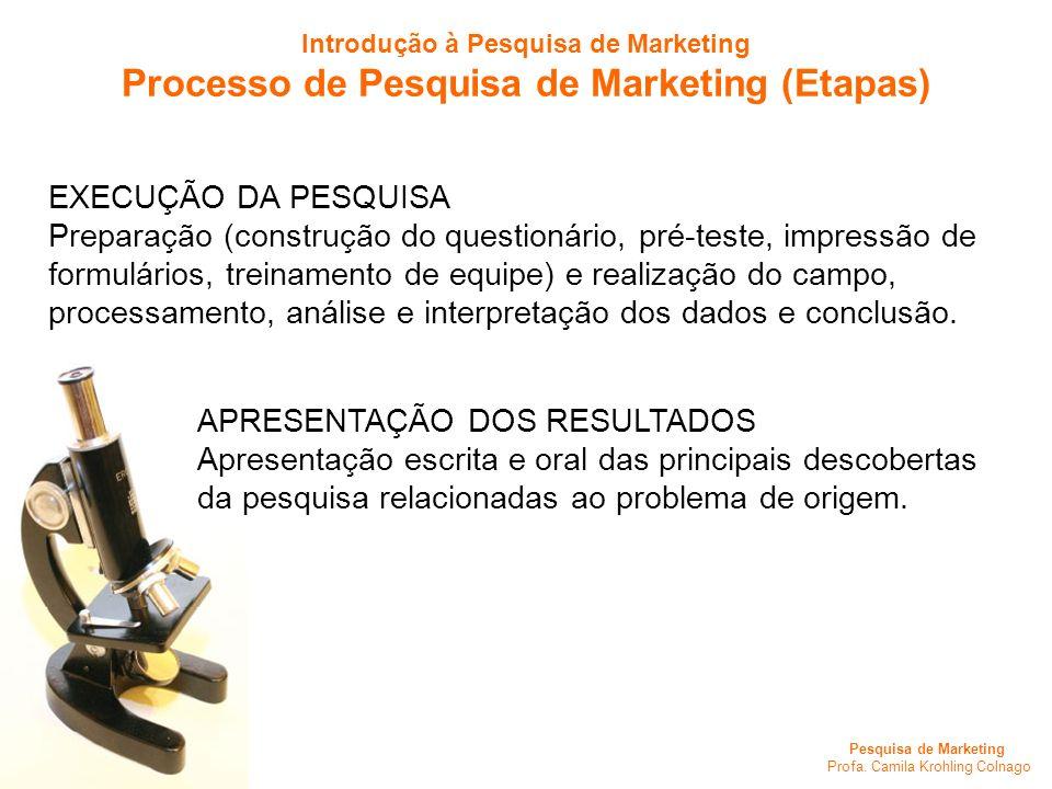 Processo de Pesquisa de Marketing (Etapas)