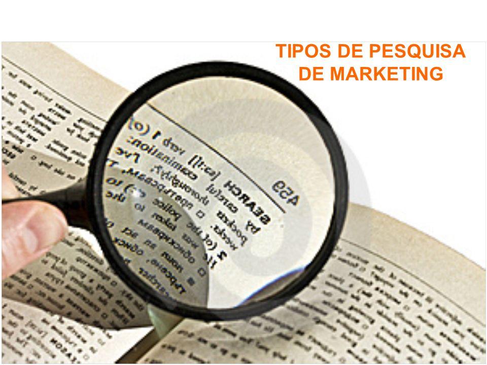 TIPOS DE PESQUISA DE MARKETING