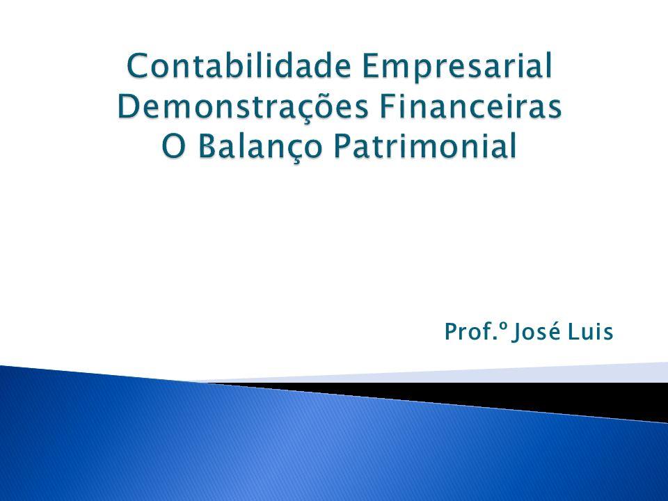 Contabilidade Empresarial Demonstrações Financeiras O Balanço Patrimonial