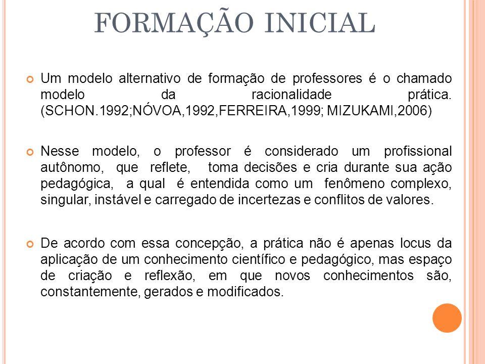 FORMAÇÃO INICIAL