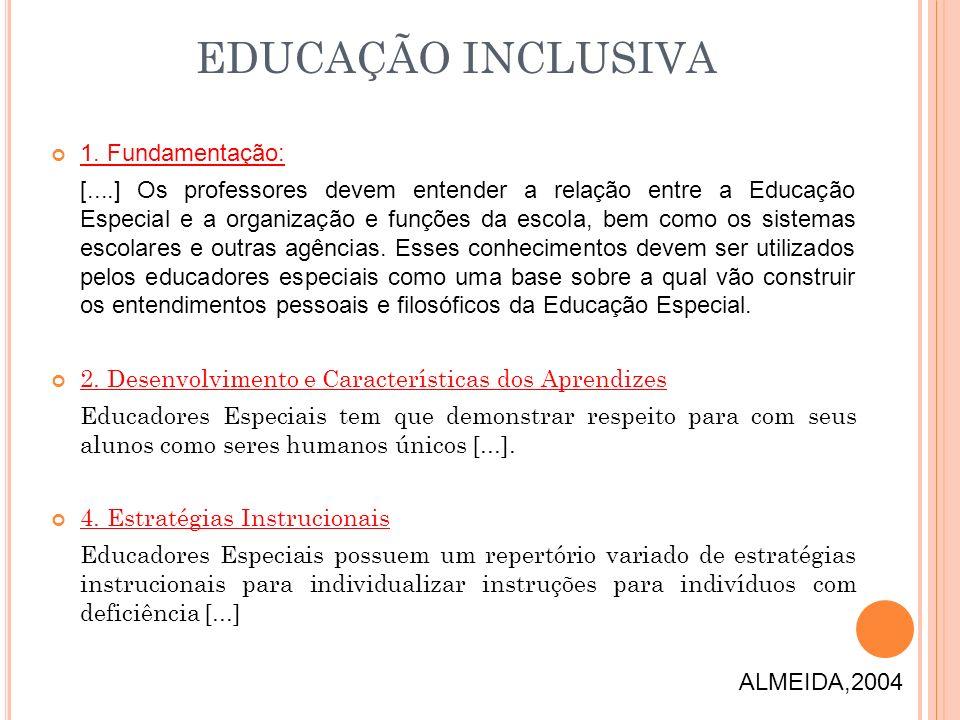 EDUCAÇÃO INCLUSIVA 1. Fundamentação: