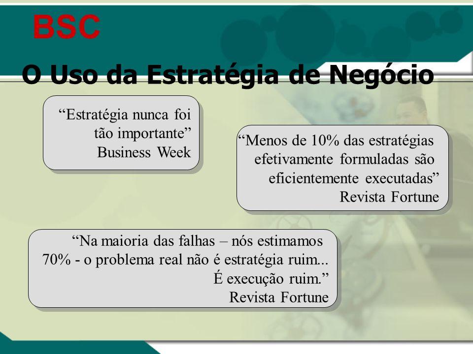 BSC O Uso da Estratégia de Negócio