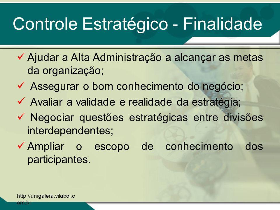 Controle Estratégico - Finalidade