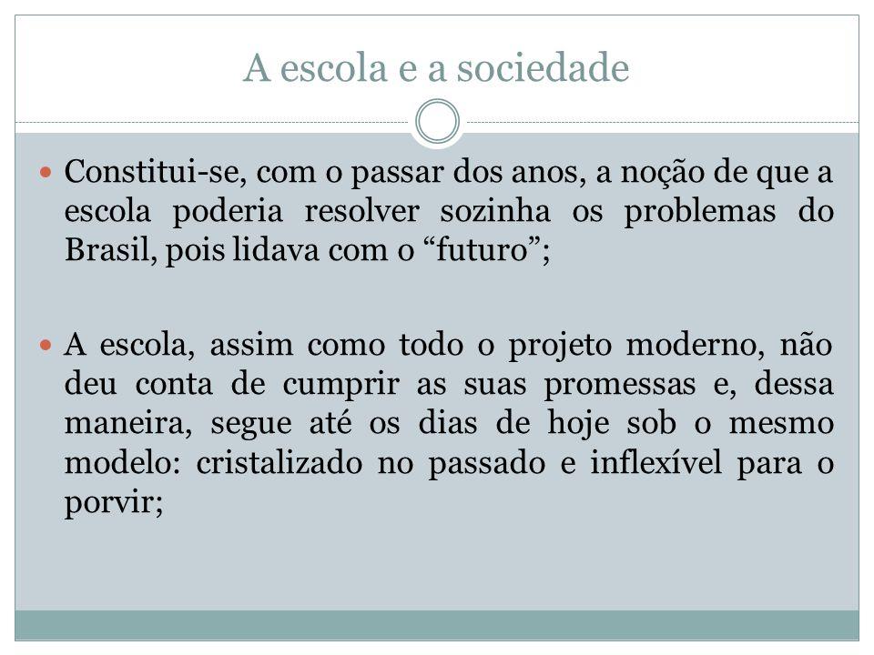 A escola e a sociedade
