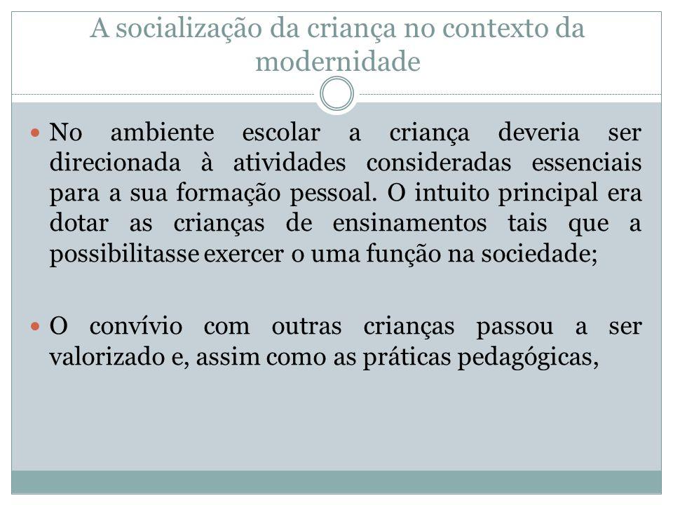 A socialização da criança no contexto da modernidade