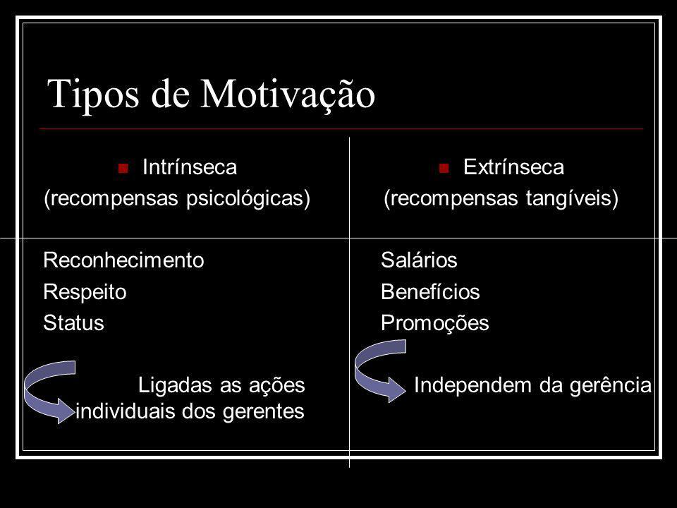 Tipos de Motivação Intrínseca (recompensas psicológicas)