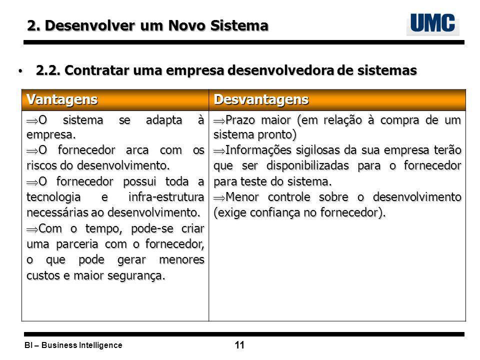 2. Desenvolver um Novo Sistema