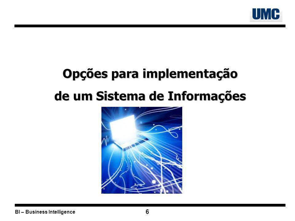 Opções para implementação de um Sistema de Informações