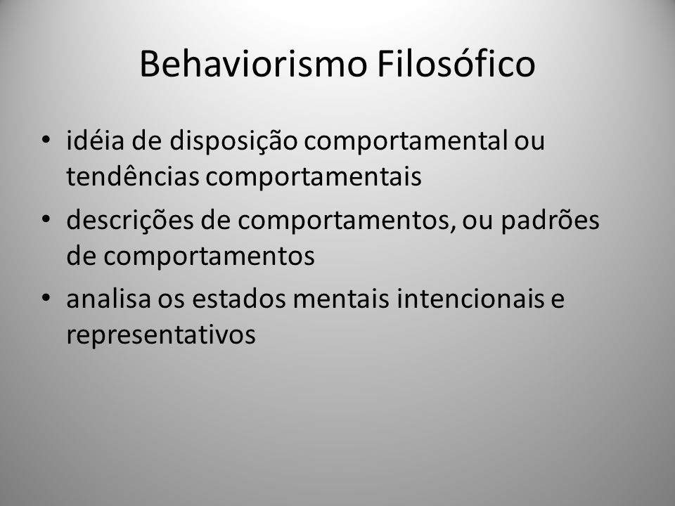 Behaviorismo Filosófico