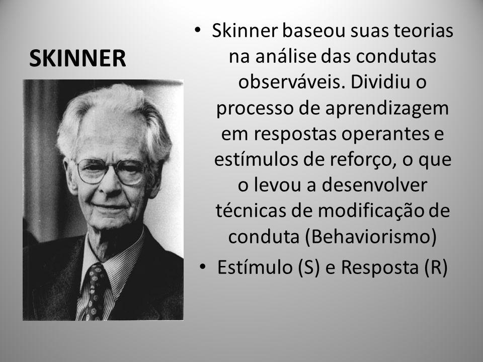 Estímulo (S) e Resposta (R)