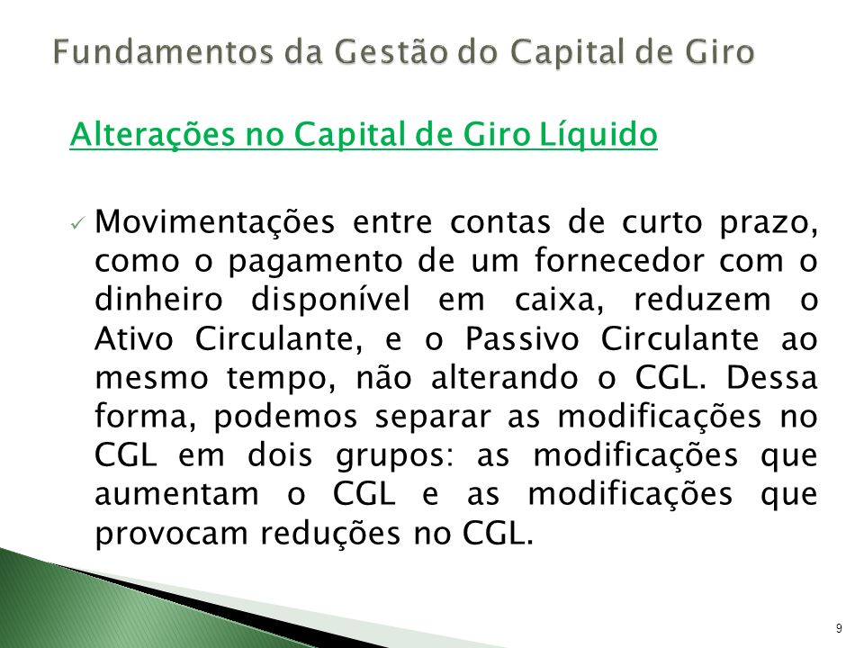 Fundamentos da Gestão do Capital de Giro