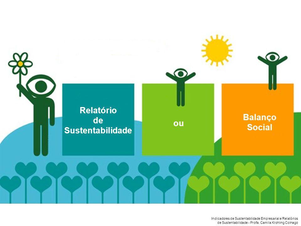 Relatório de Sustentabilidade Balanço Social ou