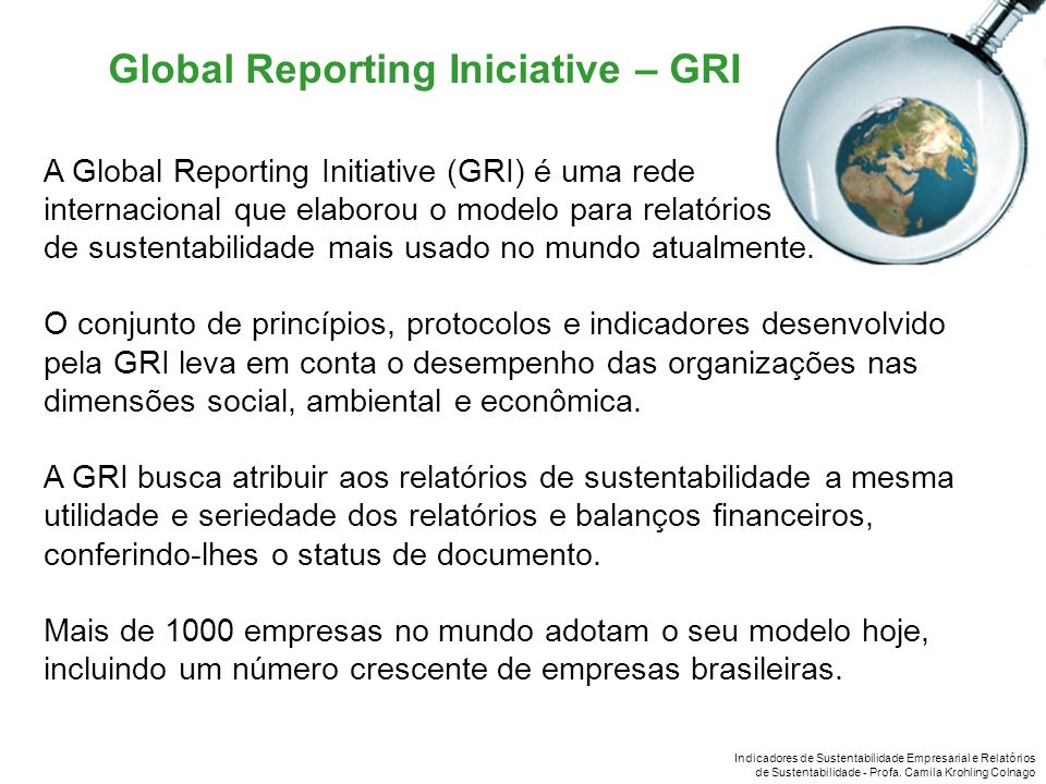Global Reporting Iniciative – GRI