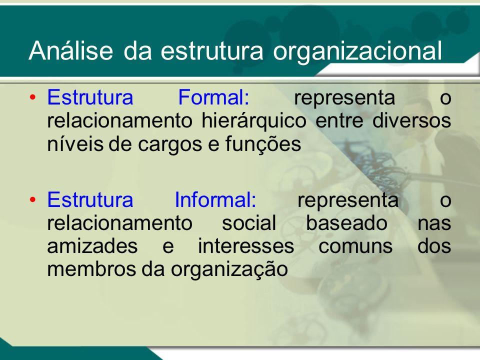 Análise da estrutura organizacional