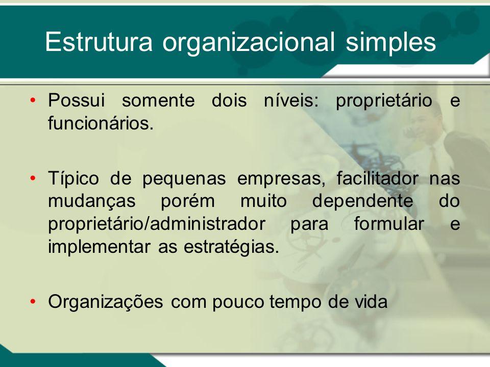 Estrutura organizacional simples