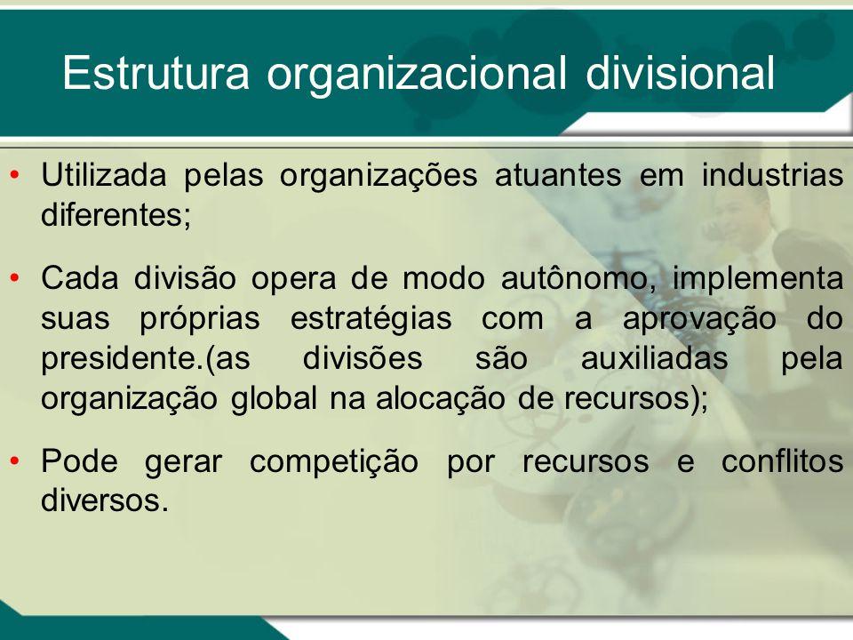 Estrutura organizacional divisional