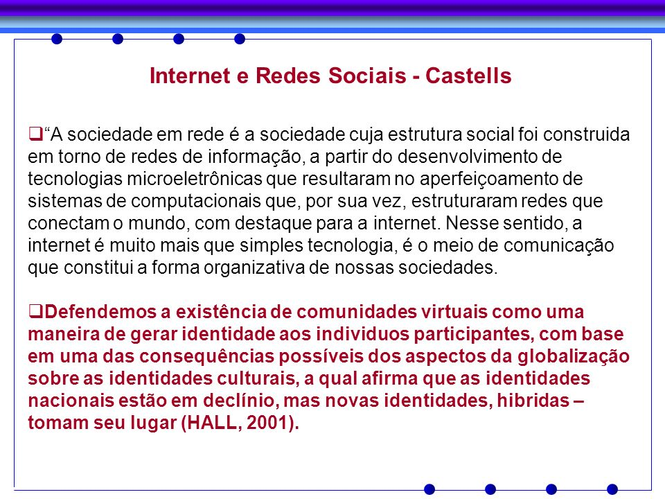 Internet e Redes Sociais - Castells