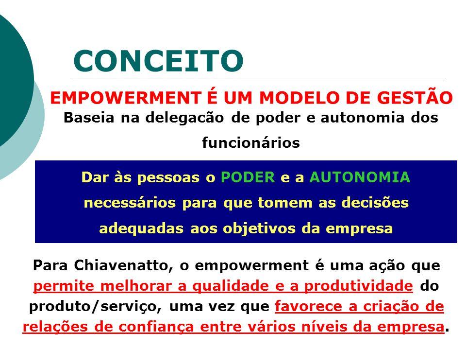 CONCEITO EMPOWERMENT É UM MODELO DE GESTÃO