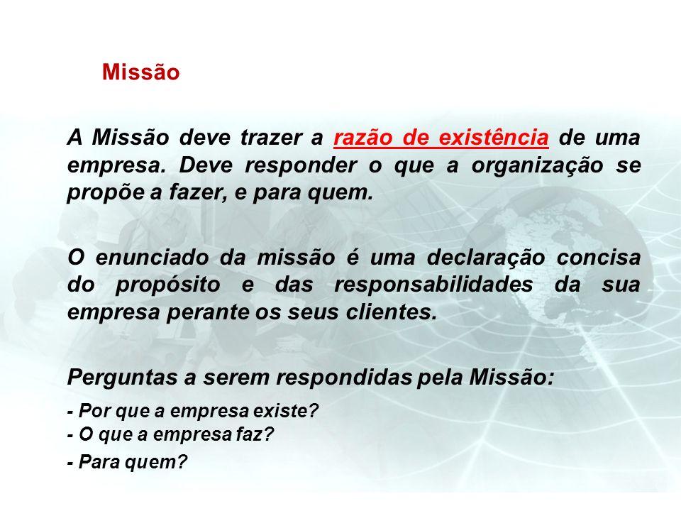 Perguntas a serem respondidas pela Missão:
