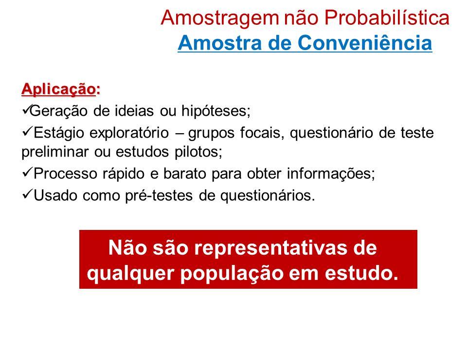 Amostragem não Probabilística Amostra de Conveniência