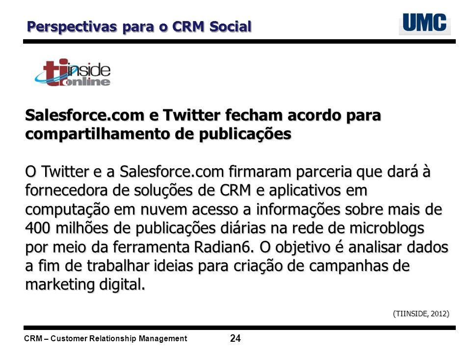 Perspectivas para o CRM Social