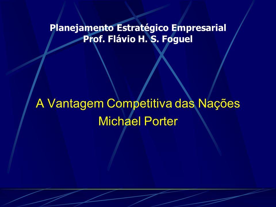 Planejamento Estratégico Empresarial Prof. Flávio H. S. Foguel
