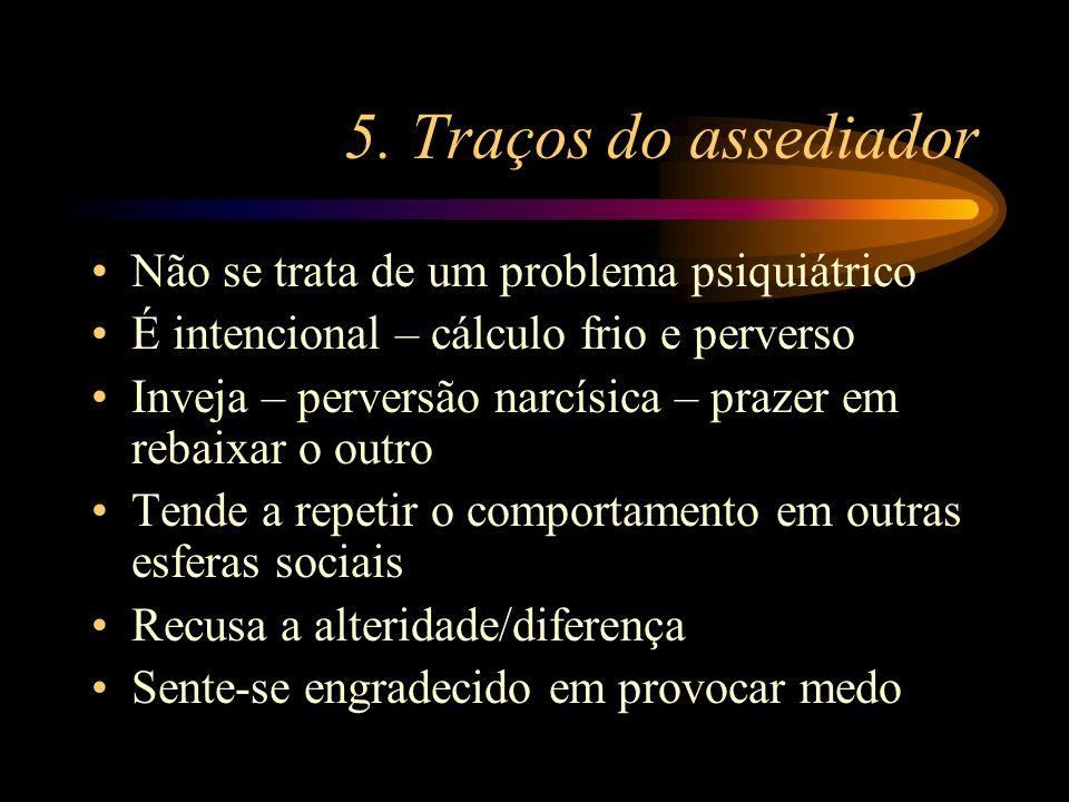 5. Traços do assediador Não se trata de um problema psiquiátrico