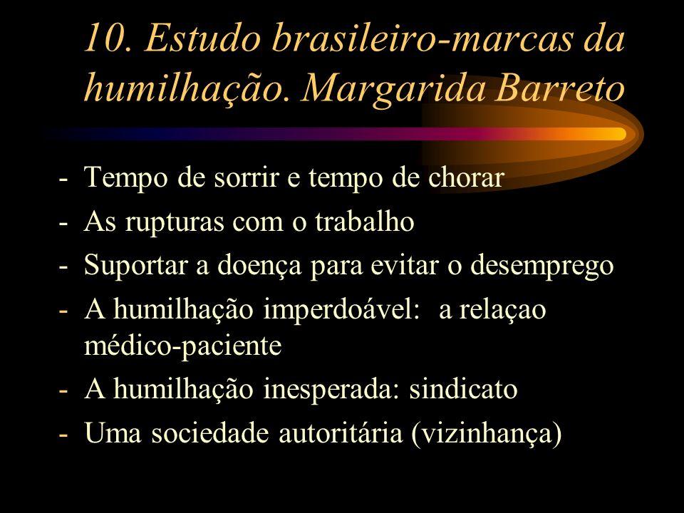 10. Estudo brasileiro-marcas da humilhação. Margarida Barreto