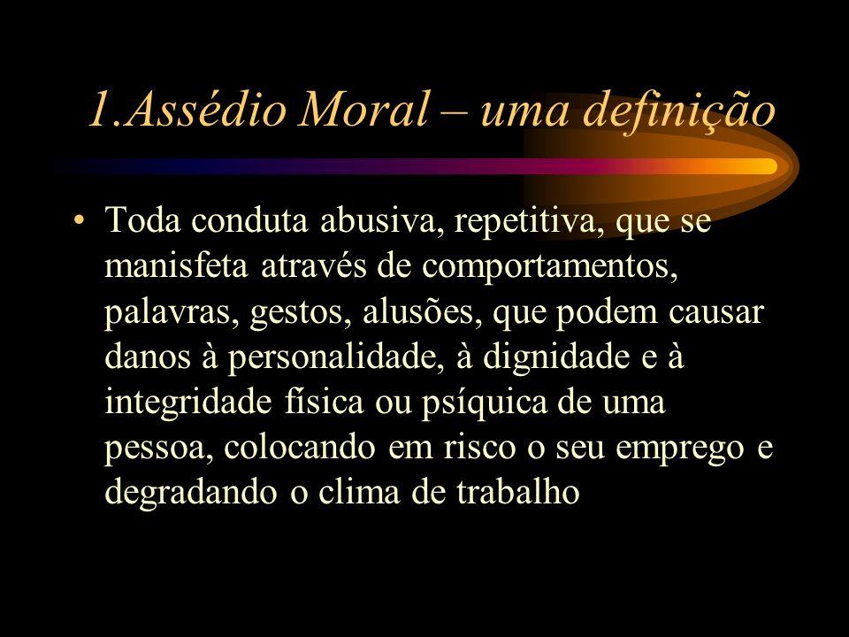 1.Assédio Moral – uma definição