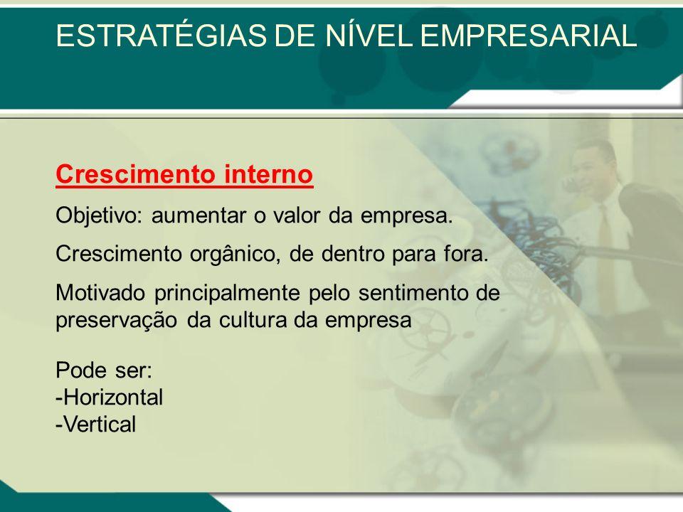ESTRATÉGIAS DE NÍVEL EMPRESARIAL
