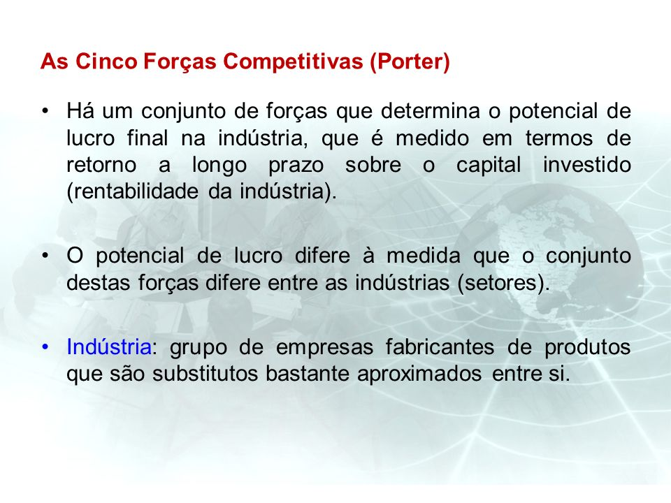 As Cinco Forças Competitivas (Porter)