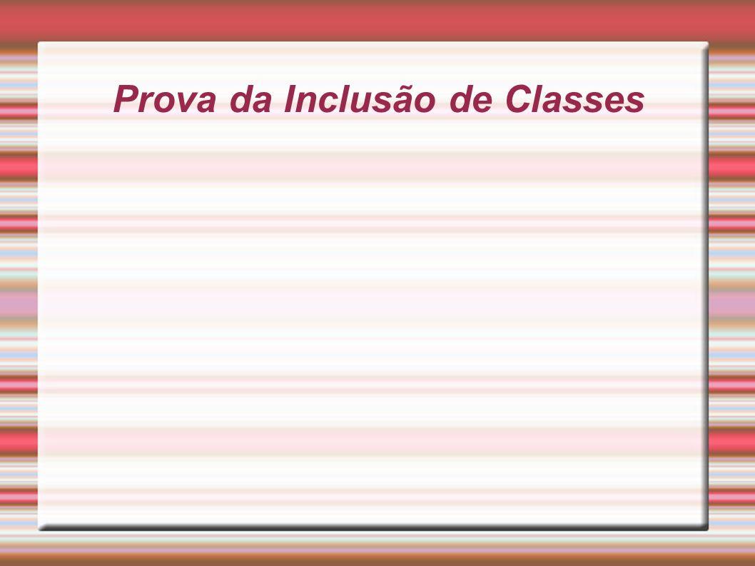 Prova da Inclusão de Classes