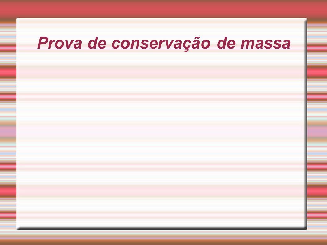 Prova de conservação de massa